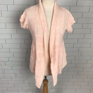 American Rag Cardigan sweater top open front peach